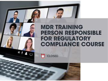 MDR TRAINING Person Responsible for Regulatory Compliance Course